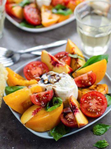 Tomato Nectarine Burrata Salad 780 | Umami Girl