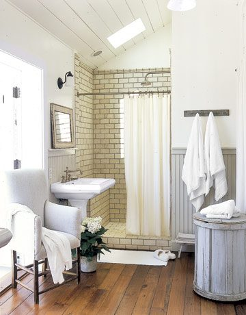 Subway tile in Shower | Umami Girl