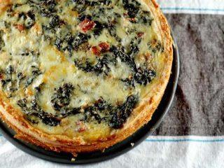 Big-Deal Kale and Pancetta Quiche
