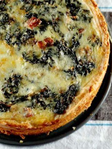 Big-Deal Kale and Pancetta Quiche 780