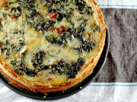 Big-Deal Kale and Pancetta Quiche 780