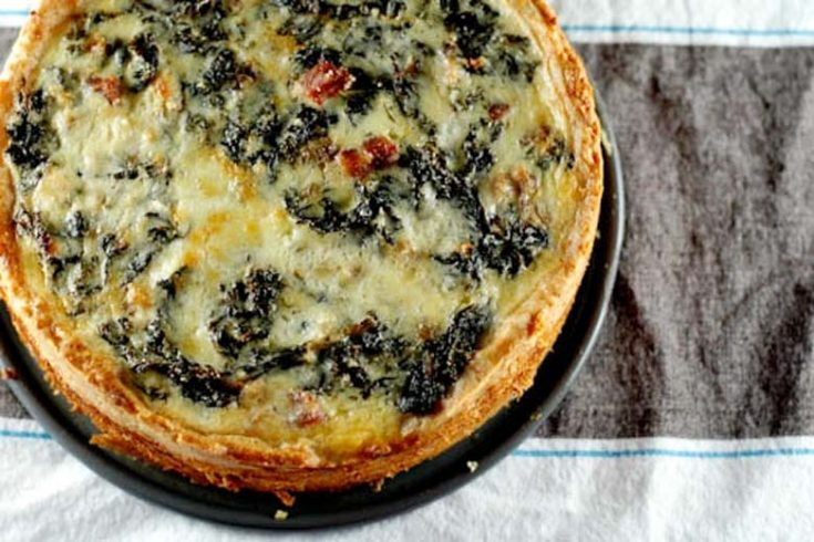 Big-Deal Kale and Pancetta Quiche