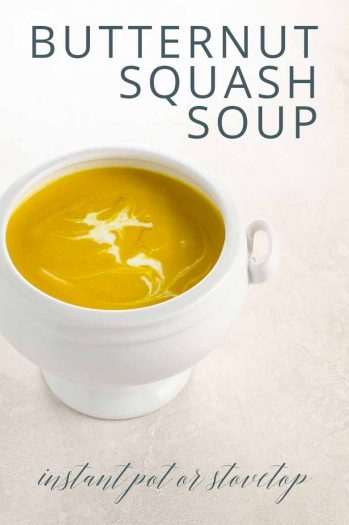 Butternut Squash Soup with Apple (Instant Pot or Stovetop) _ Umami Girl PIN