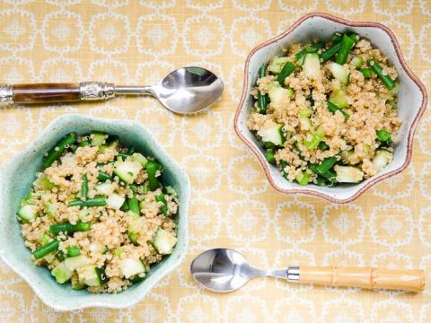 Easy Green Quinoa Salad Umami Girl