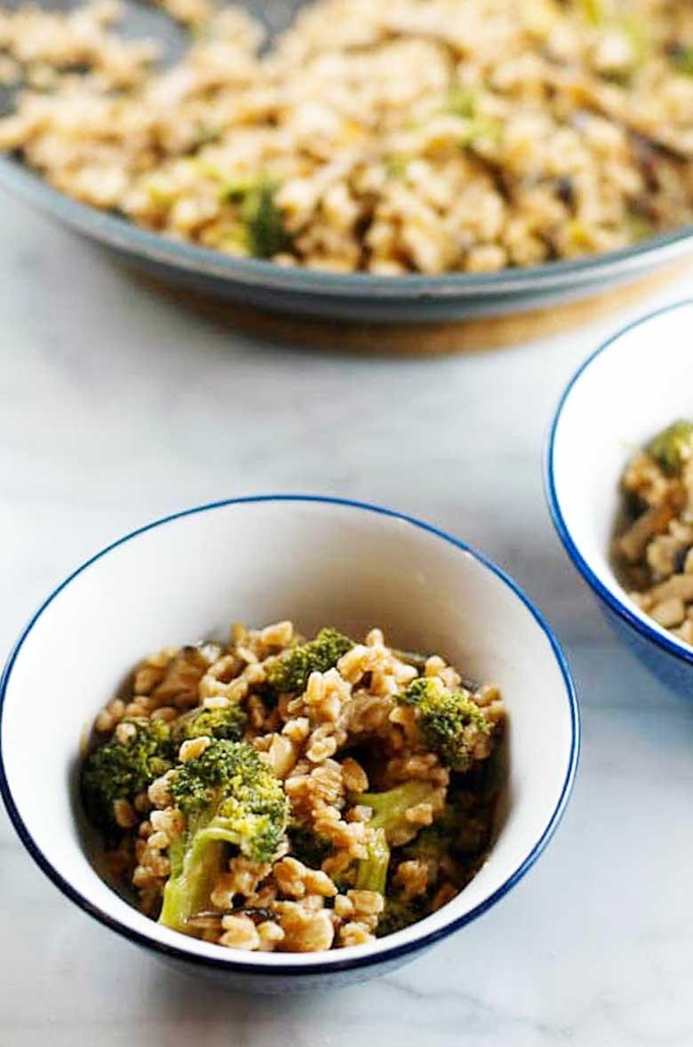 Farro with Broccoli and Shiitakes 780 _ Umami Girl