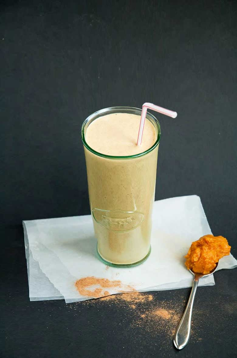 Healthy Vegan Pumpkin Spice Smoothie