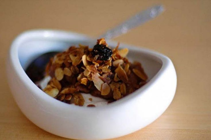 Homemade Granola with Coconut, Almonds, and Cherries