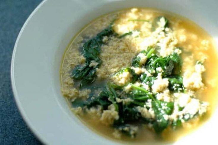 Stracciatella alla Romana: Italian Egg Drop Soup with Spinach