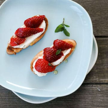 Sweet and Savory Strawberry Bruschetta 780 | Umami Girl