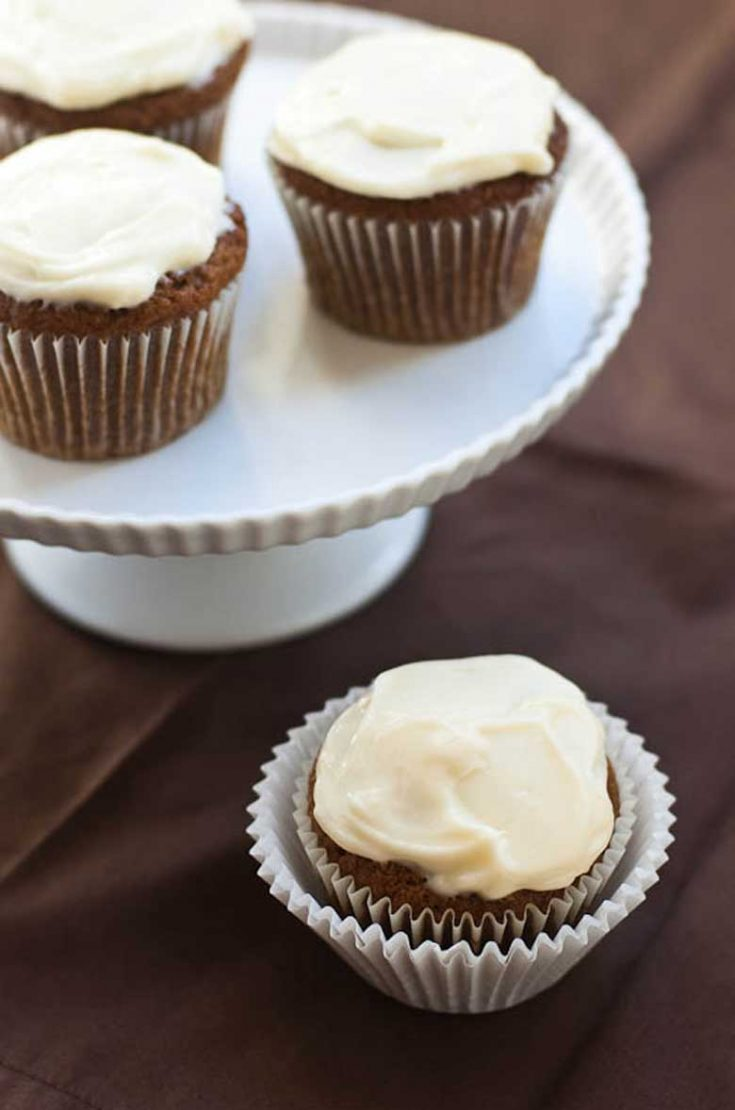 Vegan Pumpkin Muffins, with or without Cream Cheese Frosting