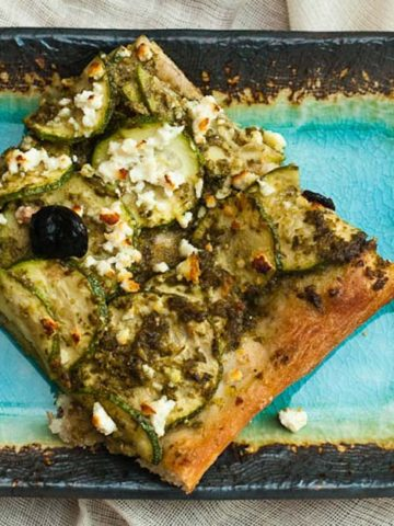 Zucchini and Feta Pesto Pizza Recipe 780