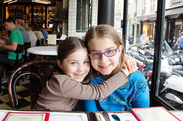 Celia and Addie in a Paris Bistro 780 | Umami Girl