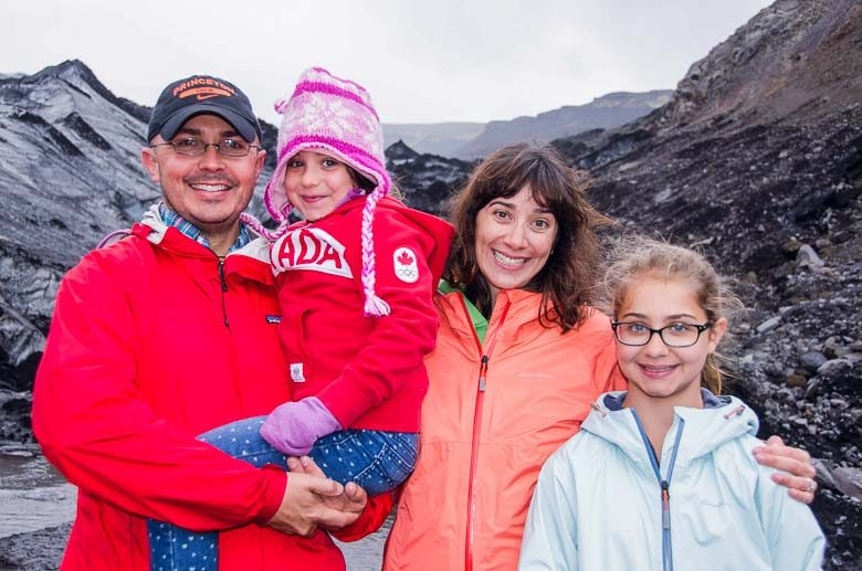 Cope Family on Solheimajokull Glacier Iceland South Coast Golden Circle 780 | Umami Girl