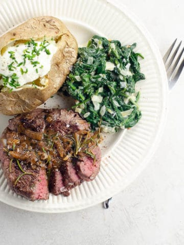 Filet Mignon Recipe with Easy Pan Sauce | Umami Girl 780-2