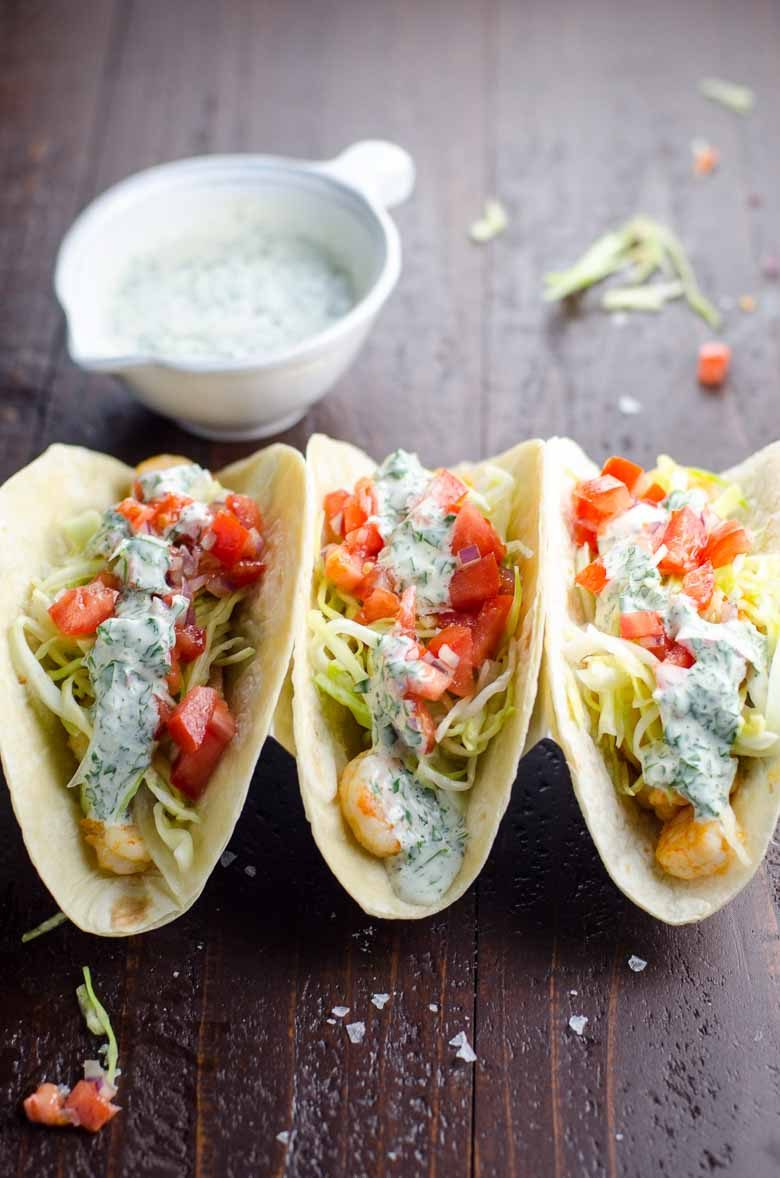 Garlic Shrimp Tacos Inspired by Surf Taco | Umami Girl