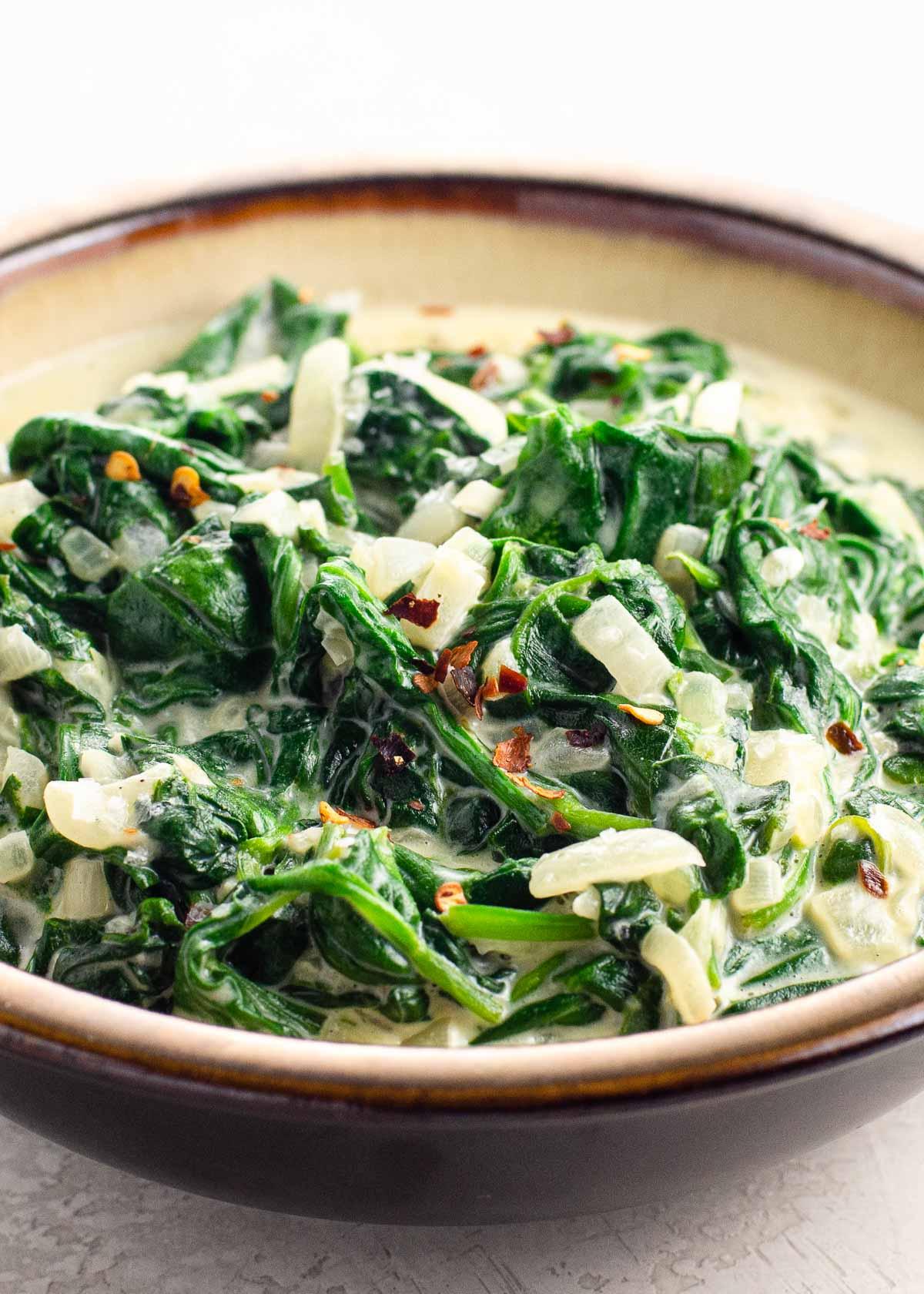 Keto Creamed Spinach (Creamy Cheesy Spinach)