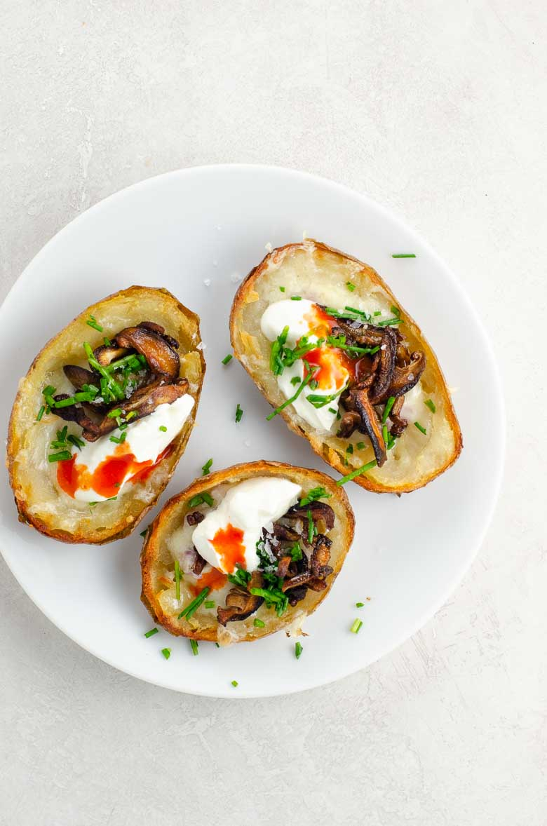 Potato Skins Classic or with Shiitake Bacon Bits | Umami Girl 780