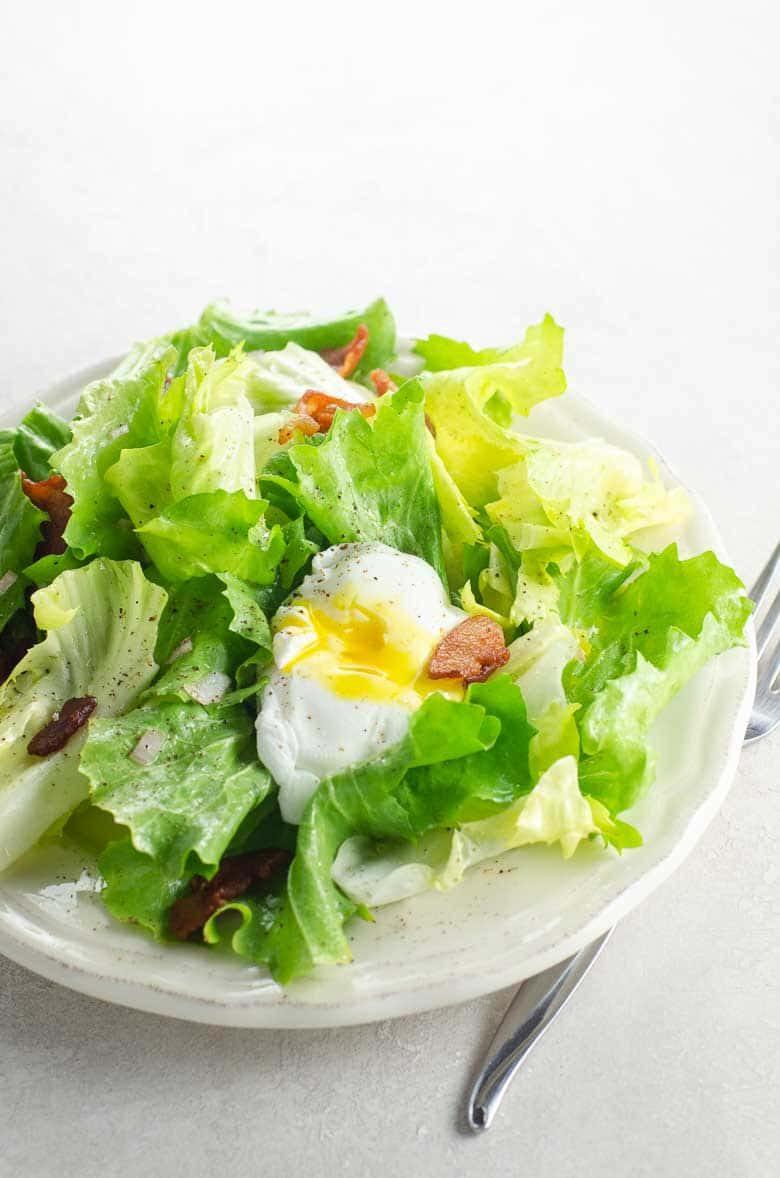 Salad Lyonnaise (Winter Greens with Poached Egg and Lardons)   Umami Girl 780-2