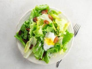 Lyonnaise Salad // Salade Lyonnaise (Winter Greens with Poached Egg and Lardons)