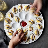 Williams Sonoma Open Kitchen Deviled Egg Platter
