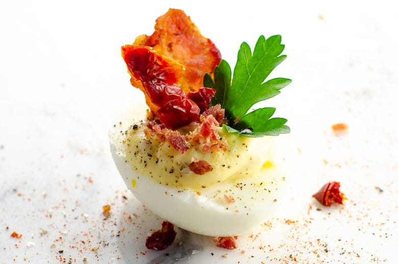 BLT Deviled Eggs Recipe | Umami Girl 780