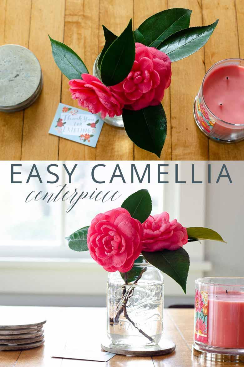Camellia Centerpiece Ideas _ Umami Girl PIN
