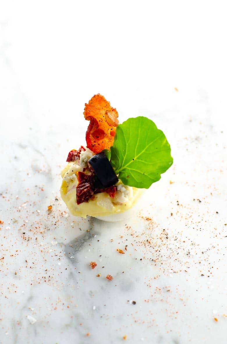 Cobb Salad Deviled Eggs | Umami Girl 780-2