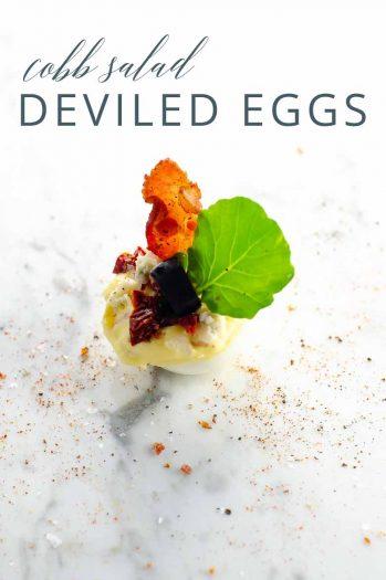 Cobb Salad Deviled Eggs _ Umami Girl PIN