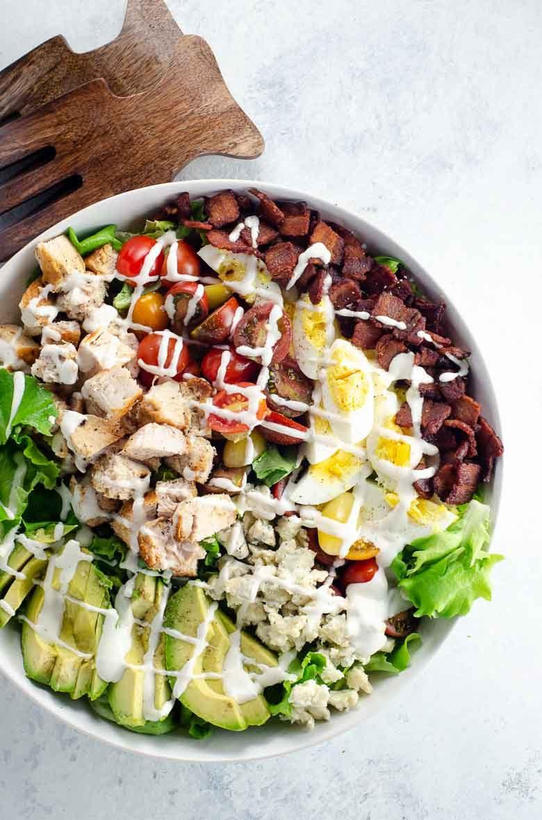 Cobb Salad Recipe with Ranch 780 | Umami Girl