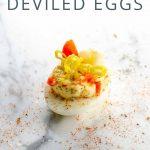 Giardiniera Deviled Eggs _ Umami Girl PIN