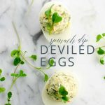 Spinach Dip Deviled Eggs _ Umami Girl PIN