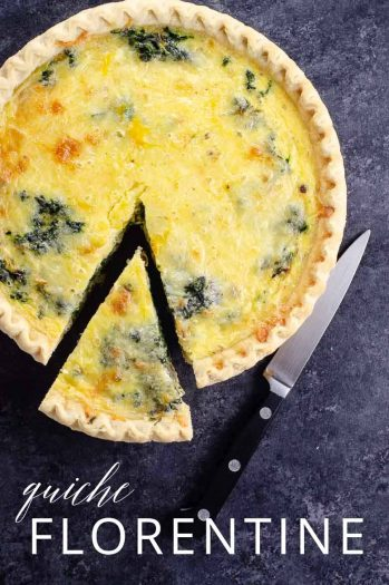 Spinach Quiche Florentine _ Umami Girl PIN