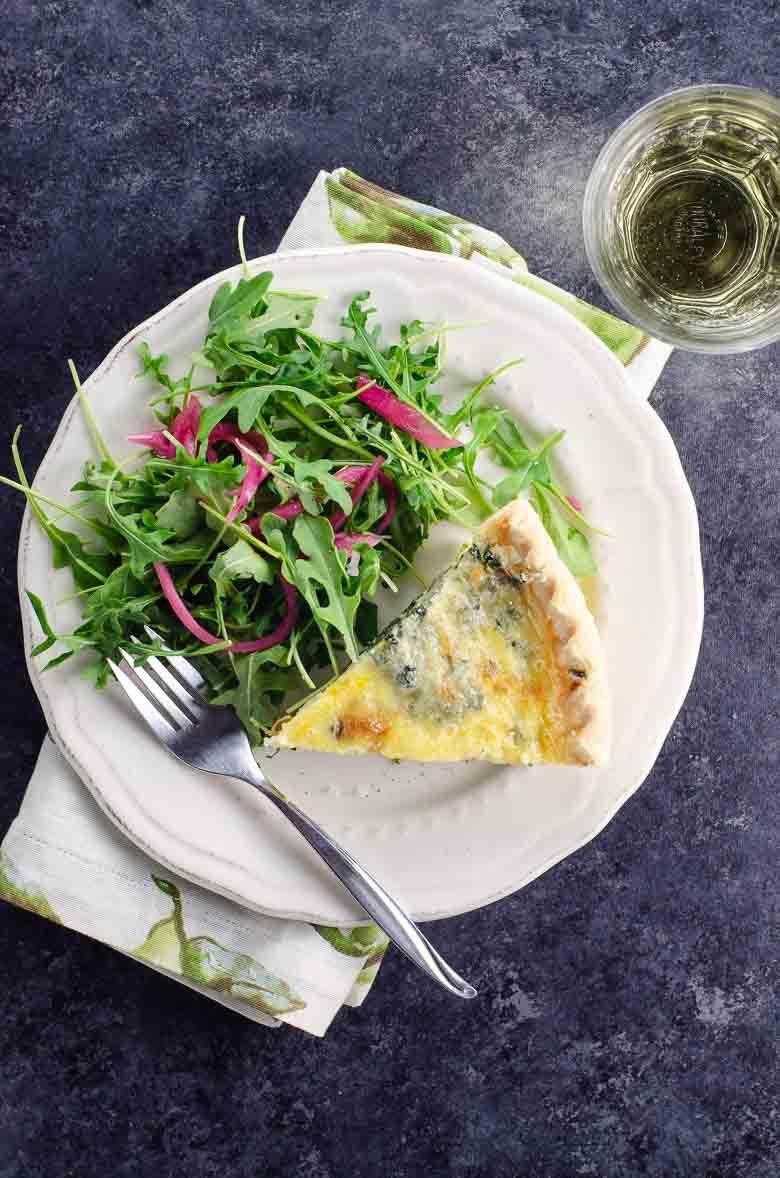 Spinach Quiche Florentine   Umami Girl 780-3