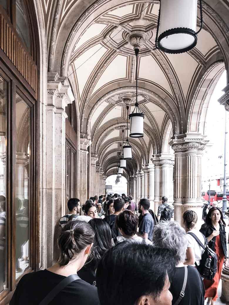Vienna State Opera House Standing Room Line Austria | Umami Girl 780