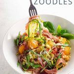 Zucchini Noodles with Summer Veggies and Bayonne Ham _ Umami Girl PIN