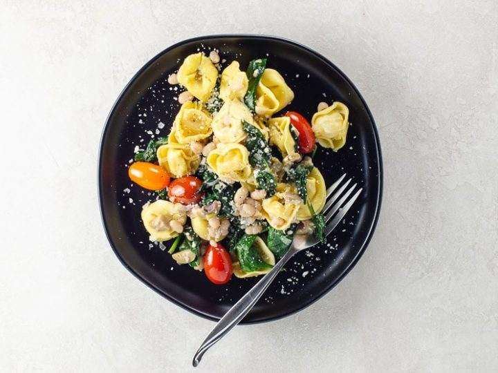Easy Tortellini Recipe with Spinach | Umami Girl