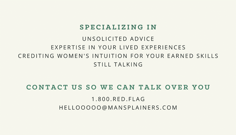 Business Cards for Mansplainers | Umami Girl 780-2