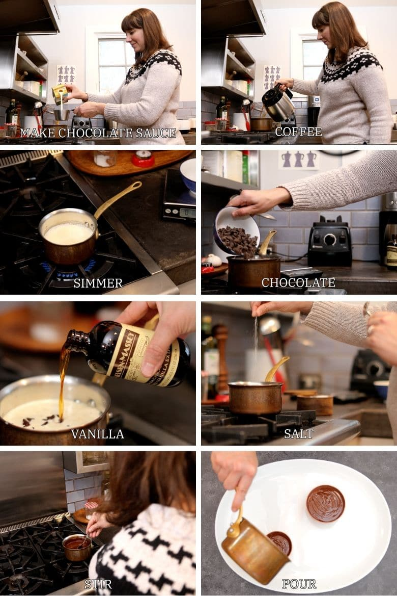 How to make chocolate ganache or dark chocolate fruit dip step by step