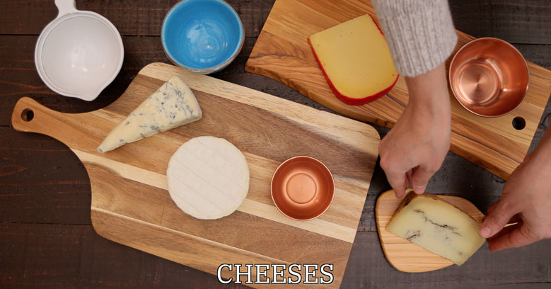 Cheeses for a cheese platter