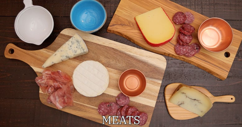 Meats for a cheese plate