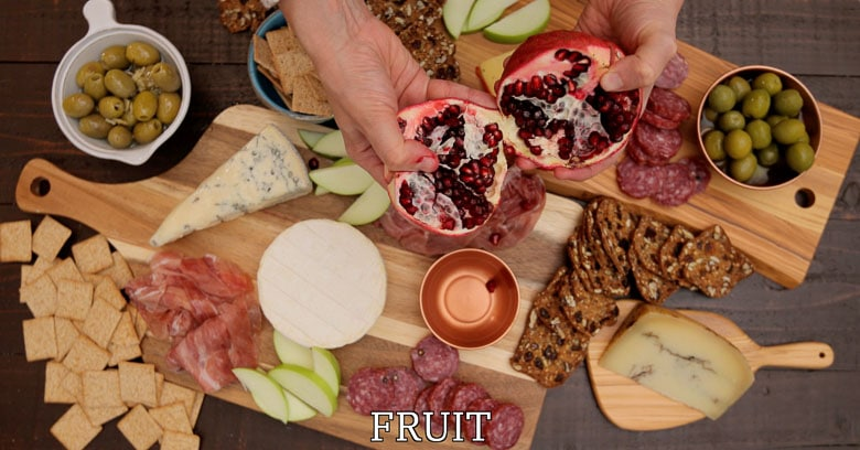 Fruit for a cheese board