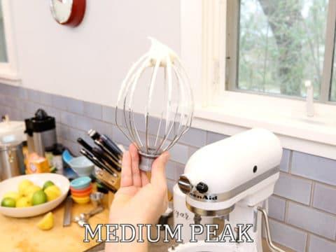 Whipped cream medium peak