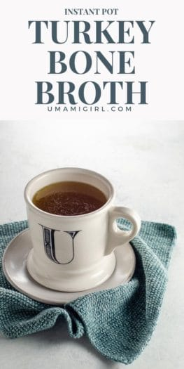 Instant Pot Turkey Bone Broth Rich Turkey Stock