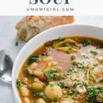 Italian Sausage Soup Pin _ Umami Girl