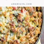 Make Ahead Vegetarian Breakfast Casserole Pin _ Umami Girl