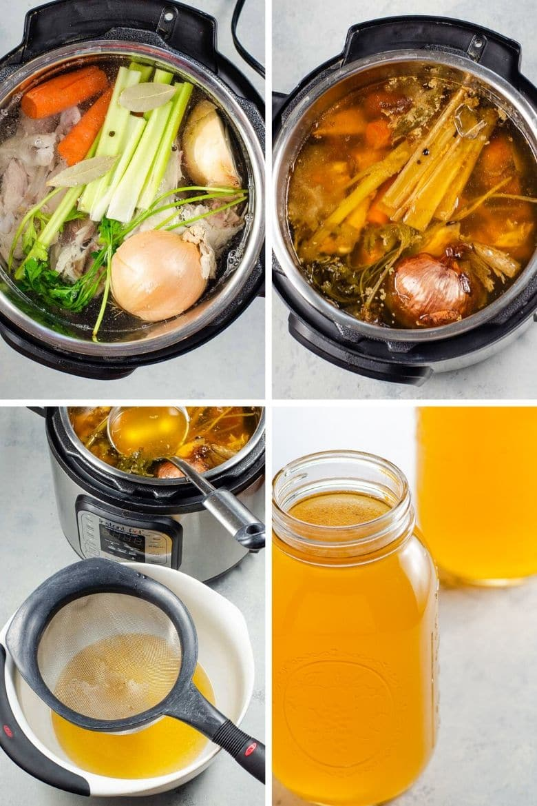 How to make bone broth in the Instant Pot step by step