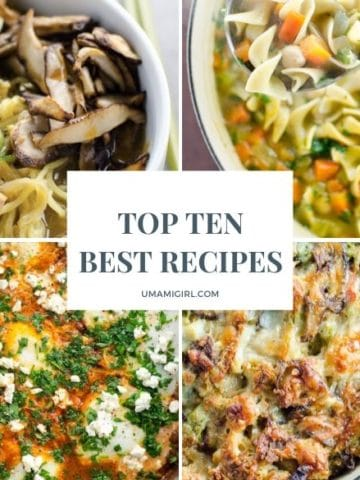 Umami Girl Top 10 Best Recipes