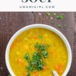 Vegan Split Pea Soup Pin _ Umami Girl
