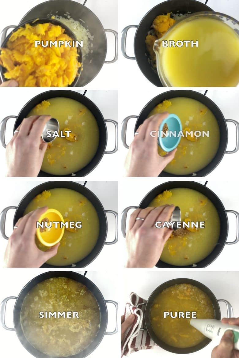 Classic Pumpkin Soup Recipe Process 2