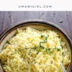 Favorite Easy Orzo Recipe Pin _ Umami Girl